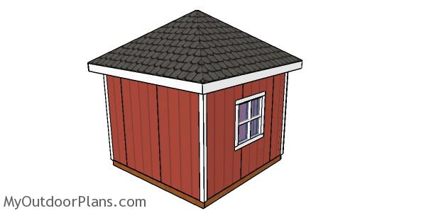 How to build a shed with a hip roof