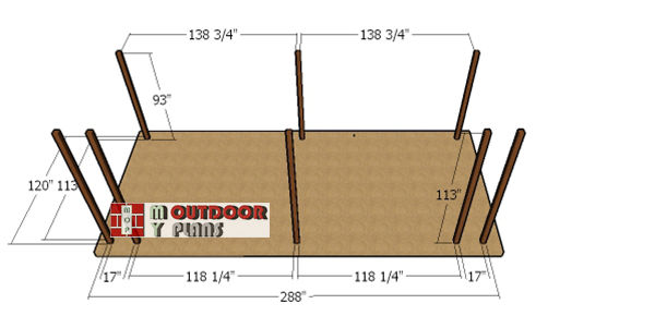 Laying-out-the-posts-for-the-shed