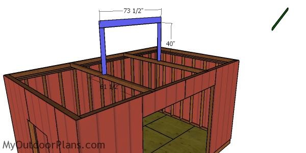 Ridge beam - 10x16 shed with hip roof