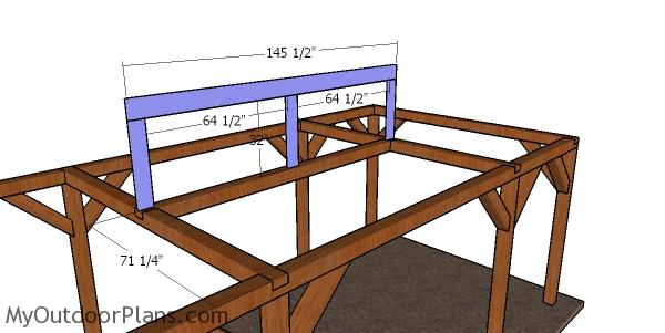Ridge beam - carport with hip roof