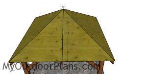 Roof sheets - 10x10 gazebo