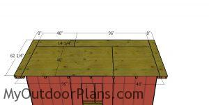 Roof sheets - 4x12 lean to shed