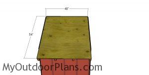 Roof sheets - 6x4 shed