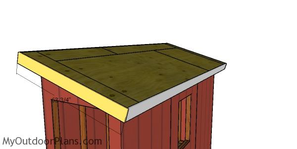 Roof trims - 4x12 lean to shed