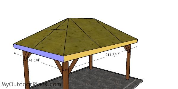 Roof trims for the 10x16 gazebo