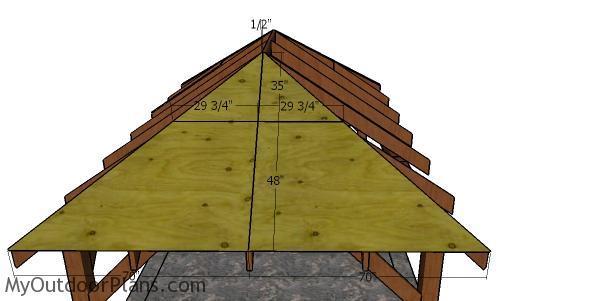 Side roof panels - 10x16 gazebo