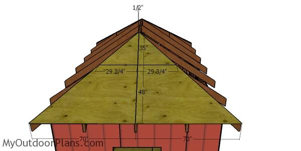Side roof sheets - 10x16 shed with a hip roof
