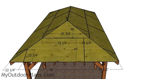 Side roof sheets - carport with hip roof