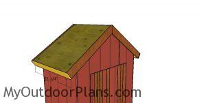 Side roof trims - 6x4 shed