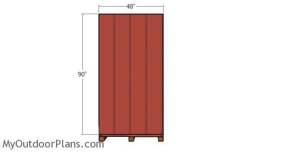 Side siding panels - 6x4 shed