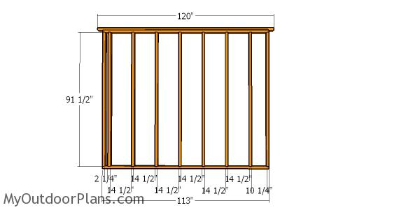 Side wall frame - 10x10 shed