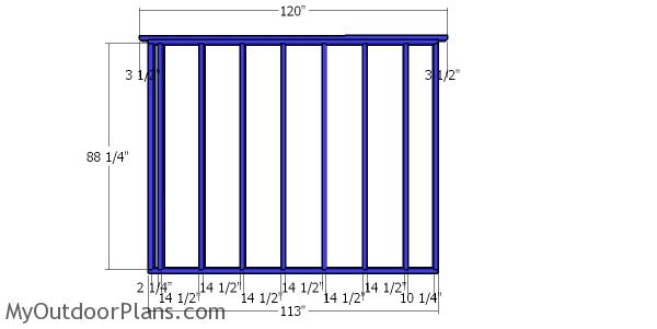 Side wall frame - 10x16 shed for storage