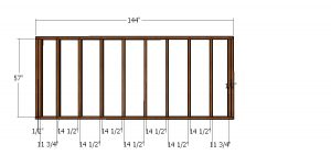 Side wall frame - 6x12 gambrel shed