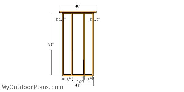 Side wall frame - 6x4 shed