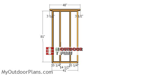 Side-wall-frame---6x4-shed