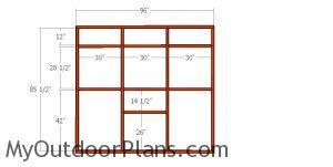 Side wall frame - catio