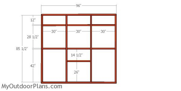 Side wall frame - catio