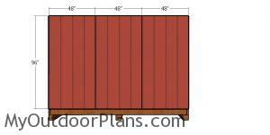 Side wall siding sheets - 12x16 shed with hip roof