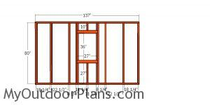 Side wall with window - 4x12 shed