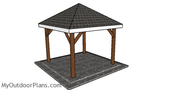 Simple 10x10 square gazebo plans