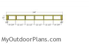 Top back wall frame - 4x12 shed