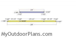 Top rails for carport