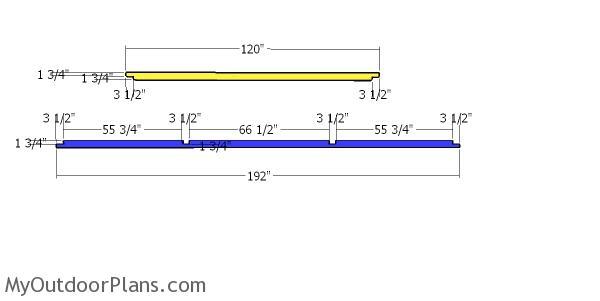 Top rails - shed framing