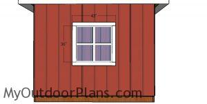 Window trims - 10x10 hip roof shed