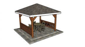 12×12 Hip Roof Gazebo Plans