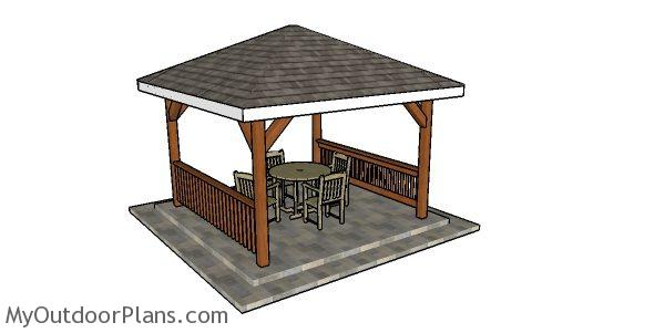 12x12 Hip Roof Gazebo Plans Myoutdoorplans Free Woodworking Plans And Projects Diy Shed Wooden Playhouse Pergola Bbq