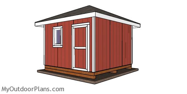 12x12 Shed with a Hip Roof Plans