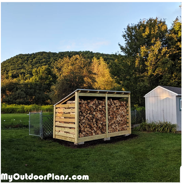3 cord Wood Shed - DIY Project