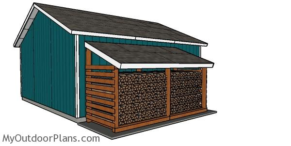 5 Cord Attached Firewood Shed - Free DIY Plans