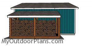 5 Cord Firewood Shed Plans