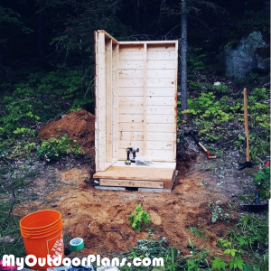 Assembling-the-walls-of-the-outhouse