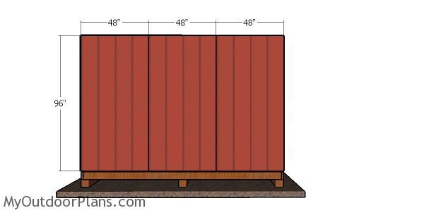 Back wall siding sheets - 12x12 shed