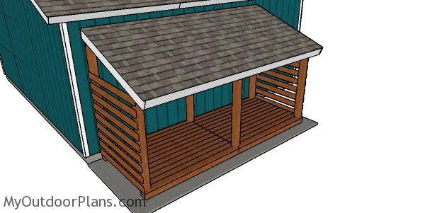 Build a wood storage shed