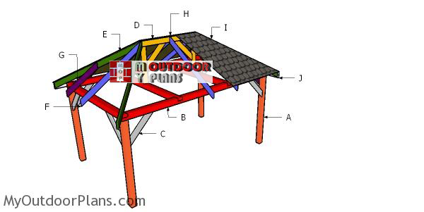10x16 Gazebo Hip Roof Plans Myoutdoorplans Free Woodworking Plans And Projects Diy Shed Wooden Playhouse Pergola Bbq
