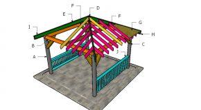 12×12 Hip Roof for Gazebo – DIY Plans