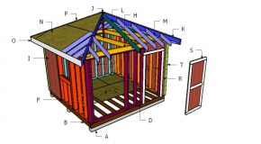 12×12 Hip Roof Shed Plans