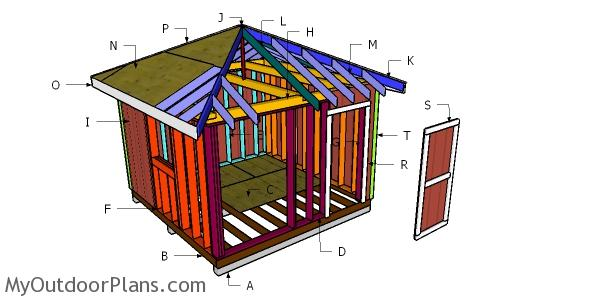 12x12 Hip Roof Shed Plans
