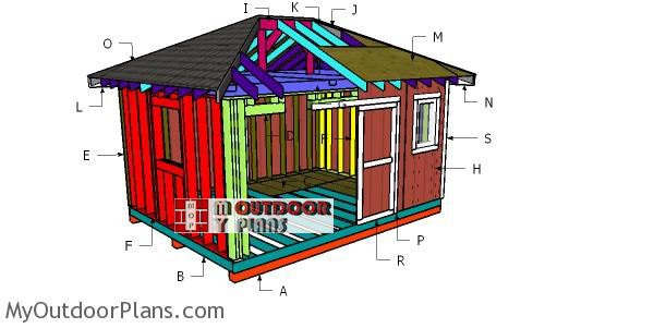 Building-a-12x16-shed-with-hip-roof