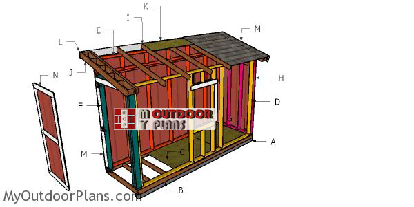 Building-a-4x12-lean-to-shed