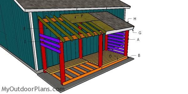 Building a 5 cord wood shed