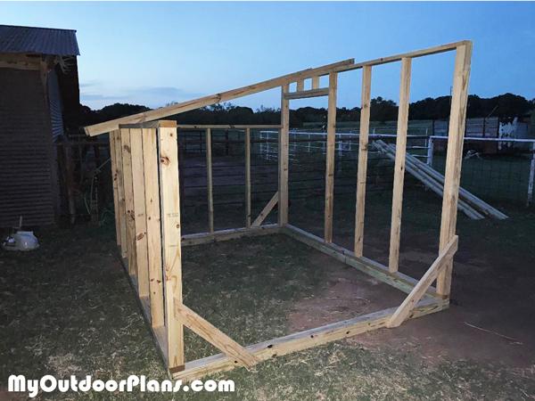 Building-a-goat-shelter
