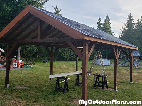 Building-a-outdoor-pavilion---16x28