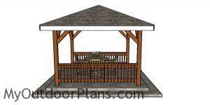 Building a square gazebo - 12x12 plans