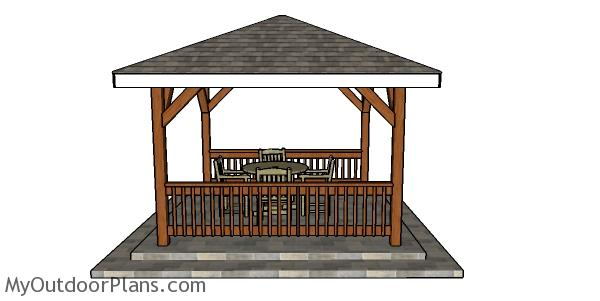 Building a square gazebo - 12x12 plans