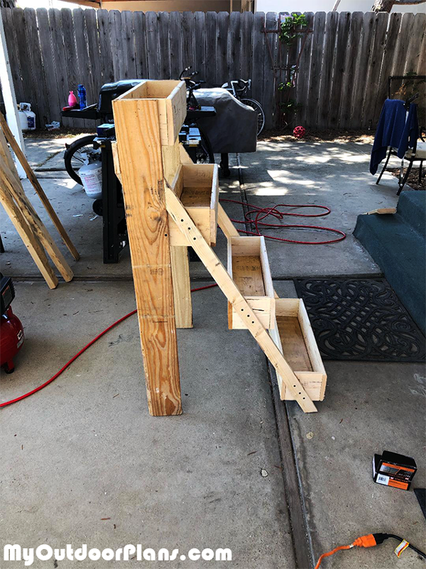 Building-a-tiered-planter-stand
