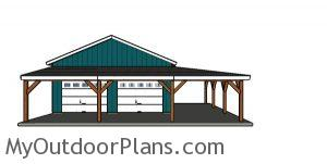 Corner Patio Cover Plans - Front View